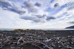 Ocean Beach, Wairarapa | © Elyse Childs Photography New Zealand Beach, Kiwiana, Ocean Beach, Photography Photos, Beaches, Clouds, Explore, Mountains, Nature