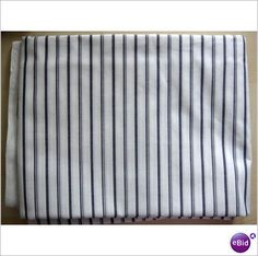 WHITE SHIRTING WITH WOVEN BLACK STRIPES - 2.6 METRES Listing in the Cotton,Clothing Fabric,Fabrics,Crafts, Handmade & Sewing Category on eBid From pugwashahoy