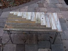 Upcycled Coffee Table mid century style hairpin by JohnBirdsong, $225.00 ~~ I wonder if one could use pallets and make a version of this ~??~