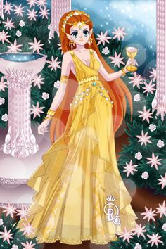 Mnemosyne aka The golden-robed Memory by launing ~ Sailor Moon Dress Up