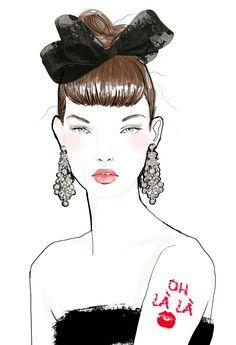 #fashion illustration Kiki 2013  tracyturnbull70.tumblr.com http://www.behance.net/TracyTurnbull