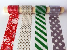 Christmas Joy Washi Tape Set - A selection of four beautiful, bold holiday colors and metallics. All U.S. orders enjoy free shipping!