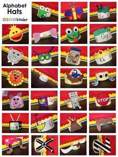 Fun alphabet hats fr