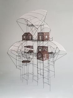 Wooden Tree House, Tyni House, 3d Model Architecture, Architectural Prints, Reading Art, 3d Pen, Cool Diy Projects, Wire Art, Design Crafts
