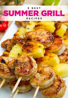 Jerk Shrimp and Pineapple Skewers Fun and easy grill recipes to impress your guests. Grilled Jerk Shrimp and Pineapple SkewersFun and easy grill recipes to impress your guests. Grilled Jerk Shrimp and Pineapple Skewers Grilled Jerk Chicken, Jerk Shrimp, Marinated Shrimp, Shrimp Skewers, Grilled Skewers, Grilled Food, Chicken Kabobs, Grilled Salmon, Meat Skewers