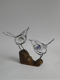 see saw songbirds - wire birds from Jill Walker