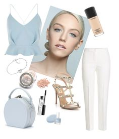 """""""set 42"""" by ecuscha ❤ liked on Polyvore featuring MaxMara, Valentino, River Island, Handle, FOSSIL and MAC Cosmetics"""