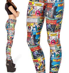 womens allover batman comics leggings by dressgeeky on Etsy