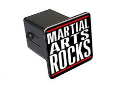 "Graphics and More Martial Arts Rocks - 2"" Tow Trailer Hitch Cover Plug Insert - http://www.exercisejoy.com/graphics-and-more-martial-arts-rocks-2-tow-trailer-hitch-cover-plug-insert/martial-arts/"