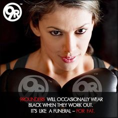 Happy Hump Day!   Wanna know what goes great with a pair of 9Round gloves? BLACK!  So dress in black, put on your gloves, head to 9Round -- and shed the fat!  #9Round #9Rounder #ShedtheFat #FuneralForFat