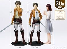 12 must-have life-size anime figures to complete any otaku's collection. a lifesize Levi? Where to put him...