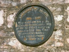 Lawrence of Arabia plaque***