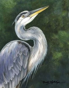 "Where ART Lives Gallery Artists Group Blog: Wildlife Art, Bird, Nature ""Blue Heron"" The Art of Nature, Fine Art by Mindy Lighthipe"