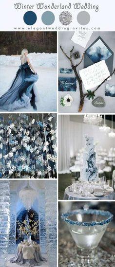 New Ideas For Wedding Winter Wonderland Color Palettes Sage Wedding, Dream Wedding, Trendy Wedding, Wedding Blue, Winter Thema, Winter Wedding Colors, Winter Themed Wedding, Winter Wonderland Wedding Theme, Winter Wedding Cakes