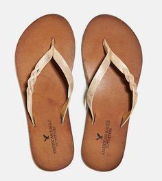 Gold Flip flops.  Love American Eagle flip flops - my last pair lasted 3 years!