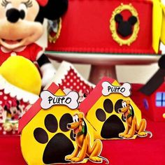 Casa do Pluto ❤️ #festadisney #festamickey #festaminnie #temadisney #temaminnie #petitceci #petitcecipersonalizados #personalizadosmickey #personalizadosminnie