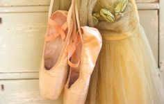 pointe shoes and tulle