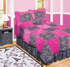 walmart zebra bedsets for twin size bed   Rainbow Zebra Comforter ...