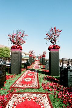 Cobalt Events Wedding - Aisle Decor for a Persian Wedding at Bacara Resort