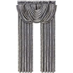 """J Queen New York Bridgeport 49"""" x 33"""" Window Valance ($50) ❤ liked on Polyvore featuring home, home decor, window treatments, curtains, interior, spa and set of 2 curtain panels"""