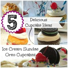 5 Unique & Delicious cupcake ideas!!  {recipe party gift desserts frosting treat family halloween food chocolate apple}