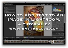how to add text to an image in lightroom