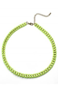 Neon Multi-Color Knit Necklace..my fav color!!