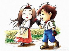 Harvest Moon: A Wonderful Life. I think these two together are the cutest.