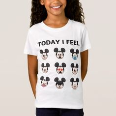 Mickey Mouse Emojis | Today I Feel T-Shirt - trendy gifts cool gift ideas customize
