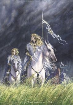 The most part of the Grey-elves fled south and forsook the northern war; many were received into Doriath, and the kingdom and strength of Thingol grew greater in that time, for the power of Melian the queen was woven about his borders and evil could not yet enter that hidden realm. ~ The Silmarillion, Chapter 18 (Ard Gallen by EKukanova, deviantART)