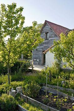 jardin potager bardage au naturel