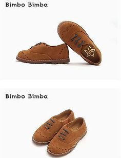Kids Shoes Cowhide Leather Brown Color Made in Korea