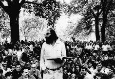 Allen Ginsberg Il poeta statunitense Allen Ginsberg legge una delle sue poesie durante un reading a Washington Square Park, a #NewYork, il 2...