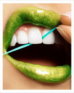 lime green lips