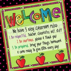 class rules sign, school clip art, back to school