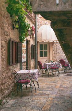 Cafe in Kotor, Montenegro Gazebo, Outdoor Structures, Patio, Outdoor Decor, Home Decor, Kiosk, Decoration Home, Room Decor, Pavilion
