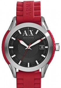 afe621ab737 AX Armani Exchange Round Silicone Strap Watch