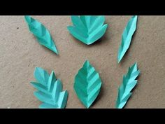 How To Make 6 Fun Paper Leaves - DIY DIY Tutorial - Guidecentral - YouTube