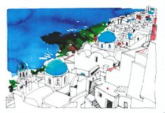 Greece sketch on Behance