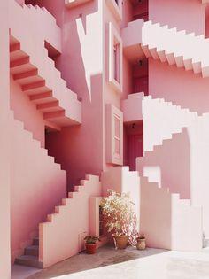 Arab #architecture - La Muralla Roja, Calpe