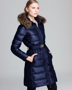 54dc83763c30 Moncler Down Coat - Salsifis Mid Length Hooded Women - Contemporary -  Bloomingdale s