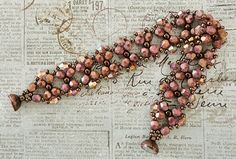 Linda's Crafty Inspirations: Bracelet of the Day: Bow Tie Bracelet - Pink Coral Moon Dust