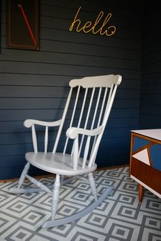 Be inspired by some of our favourite items of painted furniture that have left the Orange Otter workshop. Painted Furniture, Refinished Furniture, Better Day, Rocking Chair, Color Splash, Bar Stools, Otter, Gallery, Interior
