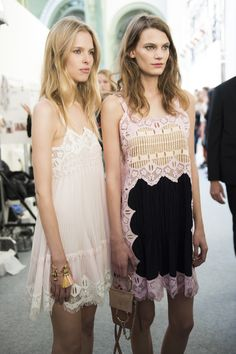 "puhrdy: "" skaodi: "" Backstage at Chloé Spring/Summer 2016 photographed by Michele Morosi. Paris Fashion Week. "" cheekyist """
