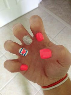Nails ★ super cute and love the colors