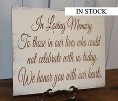 In Loving Memory/Memorial Sign/U Choose by gingerbreadromantic