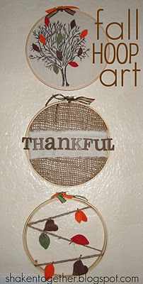 shaken together: {create this} fall embroidery hoop art