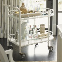 "Found it at Wayfair - Ivory Key Warwick Serving Cart by Tommy Bahama.  37.5"" H x 20"" W x 40"" D @1129."