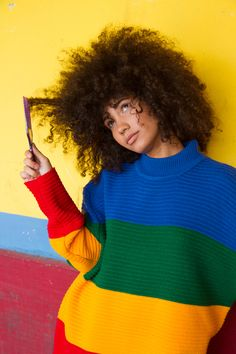 Model Raiza López and her amazing fro photographed by Steph Segarra.