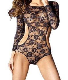 TOES-N-HOSE - Floral Lace Body Suit, Long Sleeve, $29.99 (http://www.toes-n-hose.com/floral-lace-body-suit-long-sleeve/)